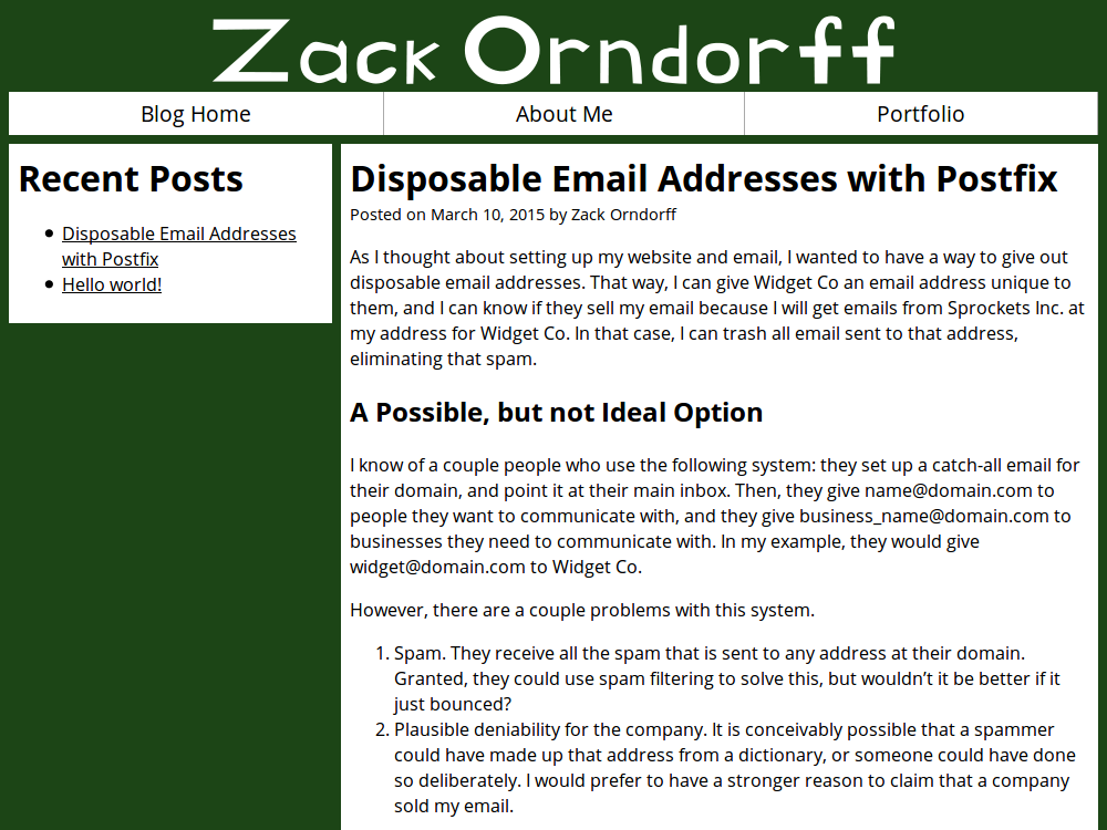 zackorndorff.com home page